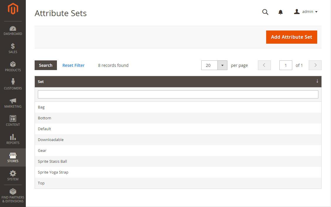 إنشاء مجموعة سمات Attribute Sets فى ماجنتو 2
