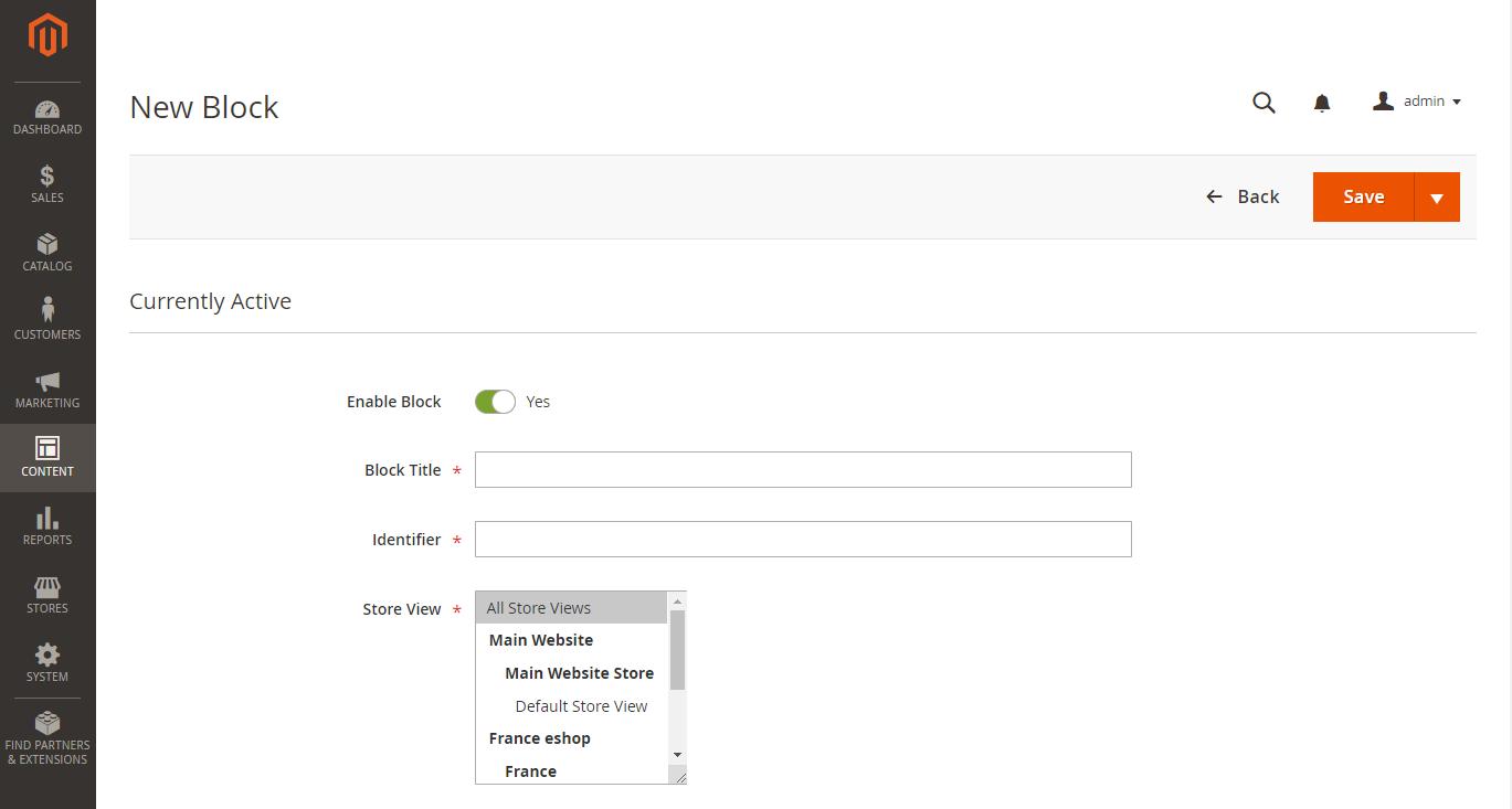 إضافة كتل محتوى جديدة (New Blocks) لصفحة CMS على ماجنتو 2