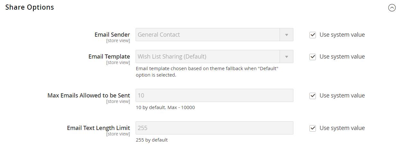 تهيئة / تكوين قائمة الرغبات Wish List Configuration فى ماجنتو 2