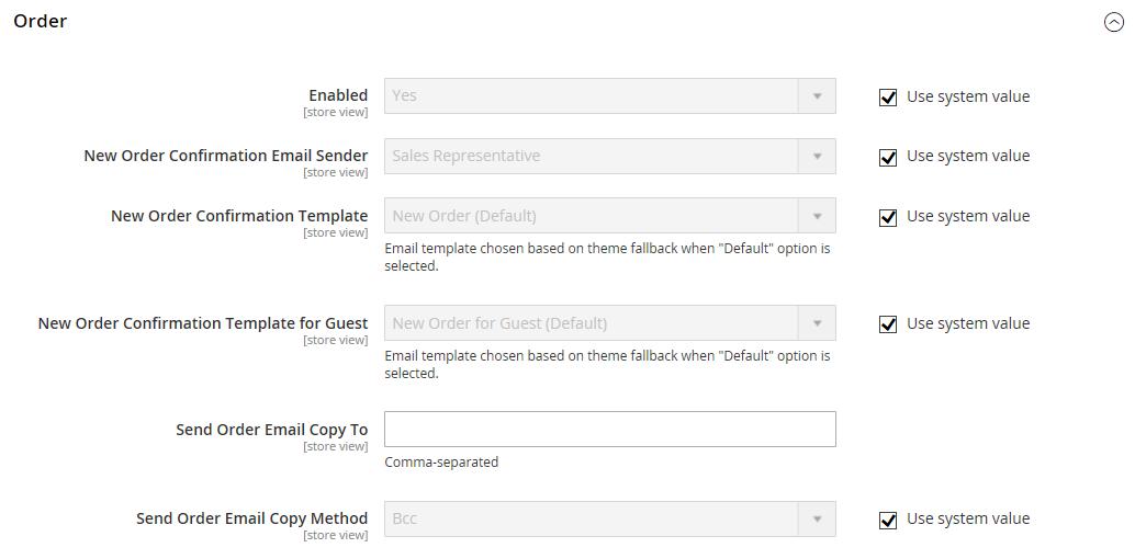 تكوين / إعداد إيميل المبيعات (Sales Email) فى متجر ماجنتو 2