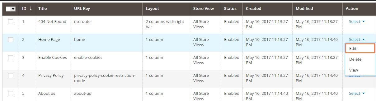 إدراج المنتجات على الصفحة الرئيسية Home Page على متجر ماجنتو 2
