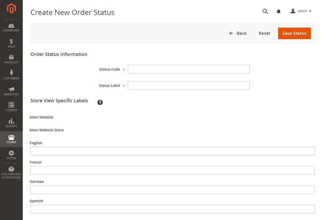 إنشاء حالة طلب جديدة New Order Status فى متجر ماجنتو 2