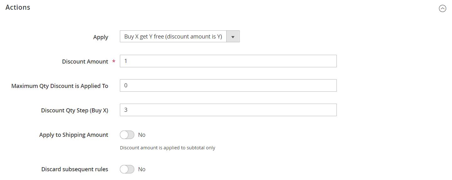 """إعداد عرض """"Buy X Get Y Free"""" على متاجر ماجنتو 2"""