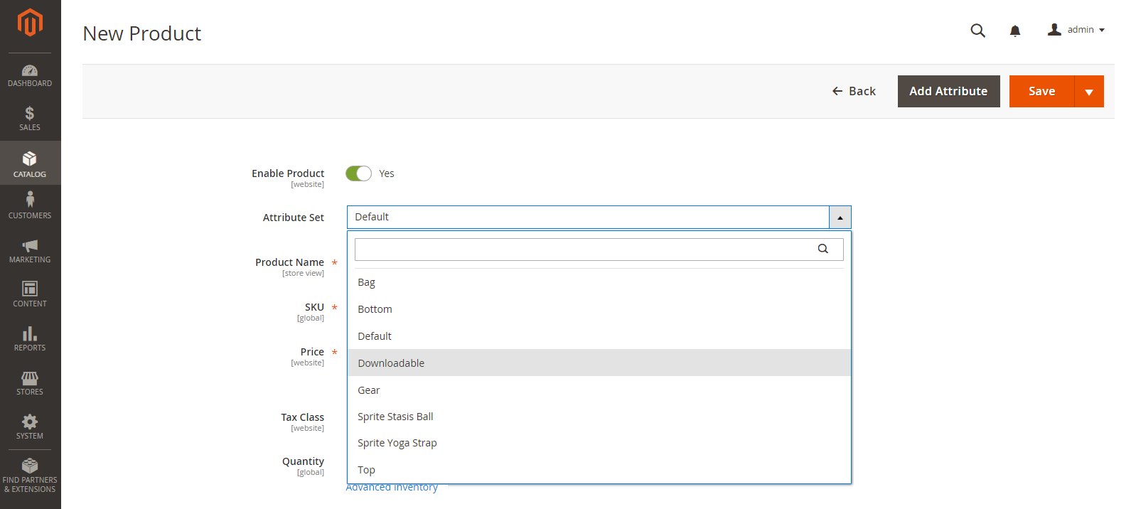 إضافة المنتج القابل للتنزيل Downloadable Product فى ماجنتو 2