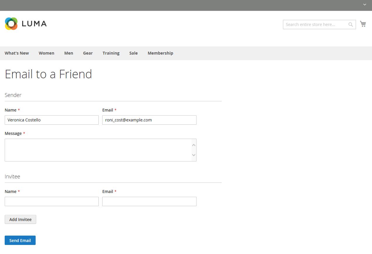 ضبط إعدادات إرسال إلى صديق Email a Friend فى ماجنتو 2
