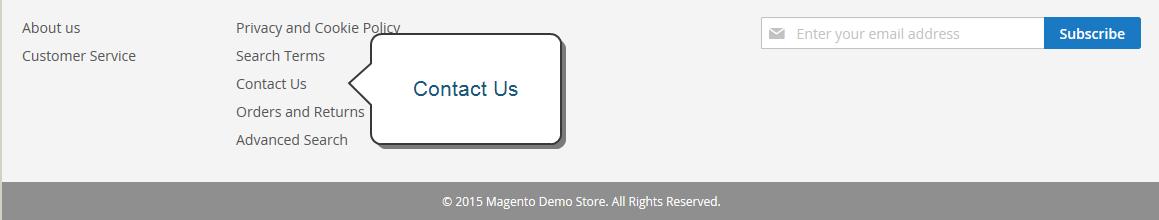 إعداد صفحة اتصل بنا لمتجرك ( Contact Us Page) على ماجنتو 2