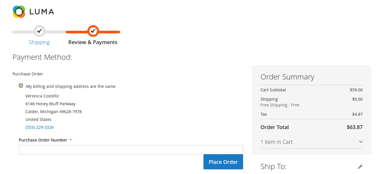 تهيئة طريقة الدفع من خلال أمر الشراء (Purchase Order) فى متجر ماجنتو 2