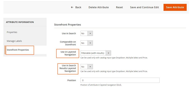 ضبط إعدادات السمات القابلة للفرز (Filterable Attributes) فى متجر ماجنتو 2
