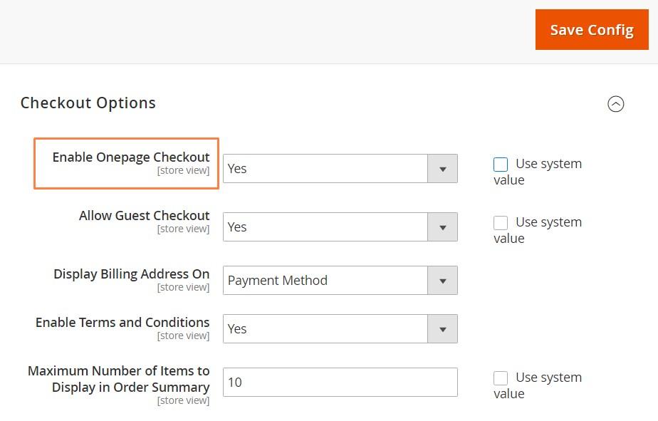 إعداد عملية اتمام الطلب فى صفحة واحدة (Onepage Checkout) فى متجر ماجنتو 2