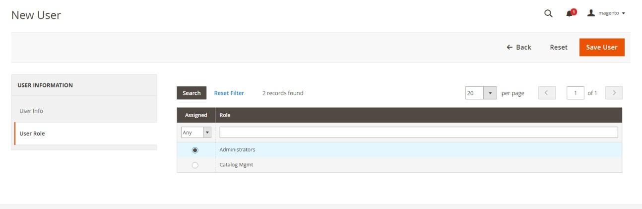 اضافة حساب مستخدم جديد (Adding New User) فى متجر ماجنتو 2