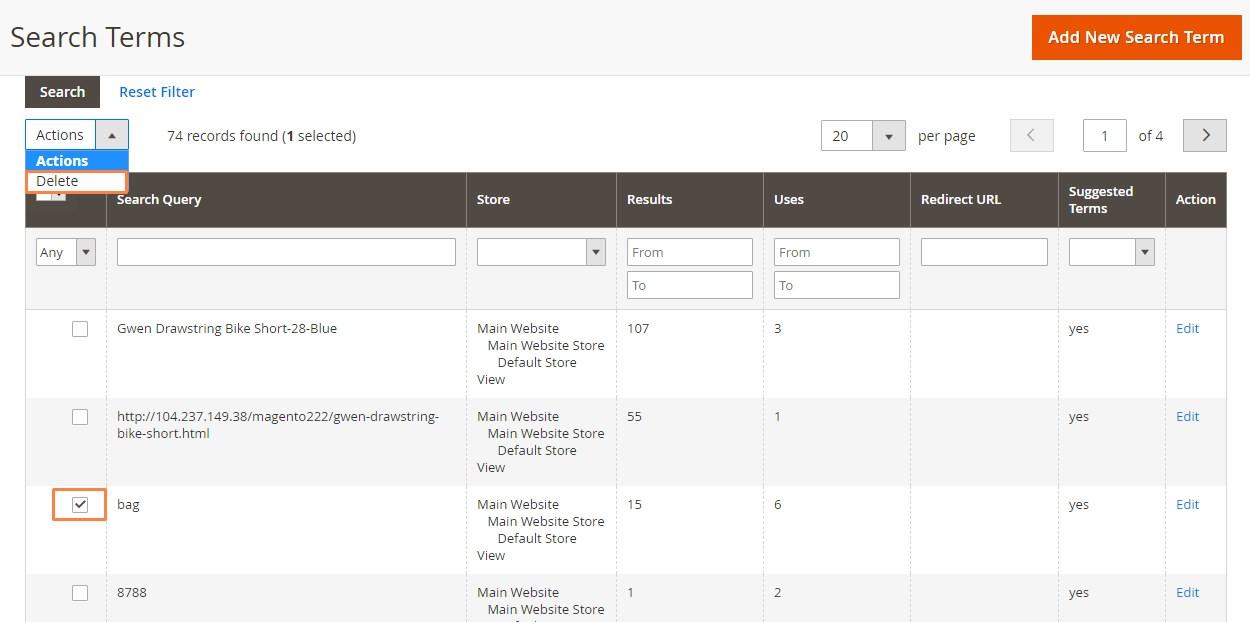 إضافة كلمات البحث ( Adding Search Terms) فى متجر ماجنتو 2