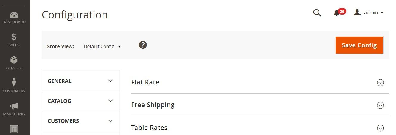 طرق الشحن الأساسية (Shipping Methods) فى متاجر ماجنتو 2
