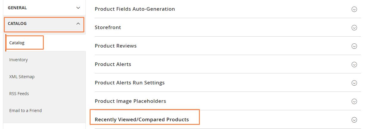 تهيئة إعدادات المنتجات المقارنة و المشاهدة مؤخرا (Recently Viewed/Compared Products) فى ماجنتو 2