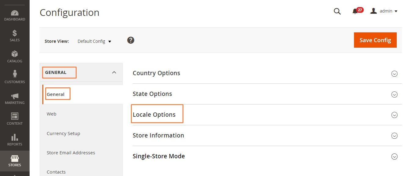 ضبط الخيارات / الإعدادات المحلية للمتجر الالكترونى (Locale Options) فى ماجنتو 2