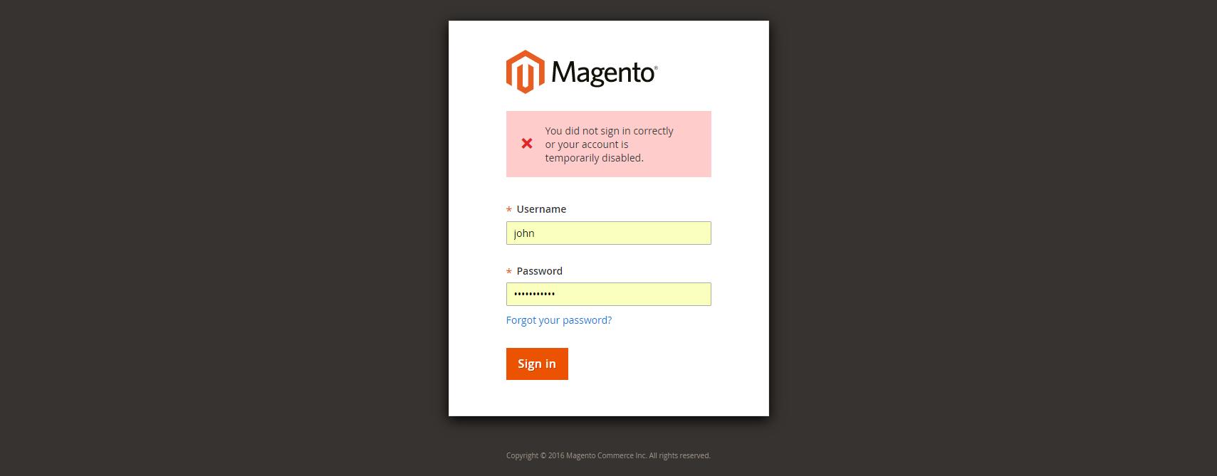 فتح حساب مستخدم مغلق (Unlock user account) فى متجر ماجنتو 2