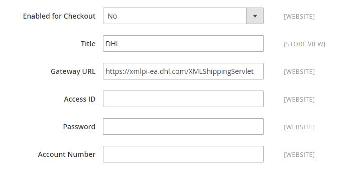 تعيين شركة الشحن DHL لمتجرك على ماجنتو 2