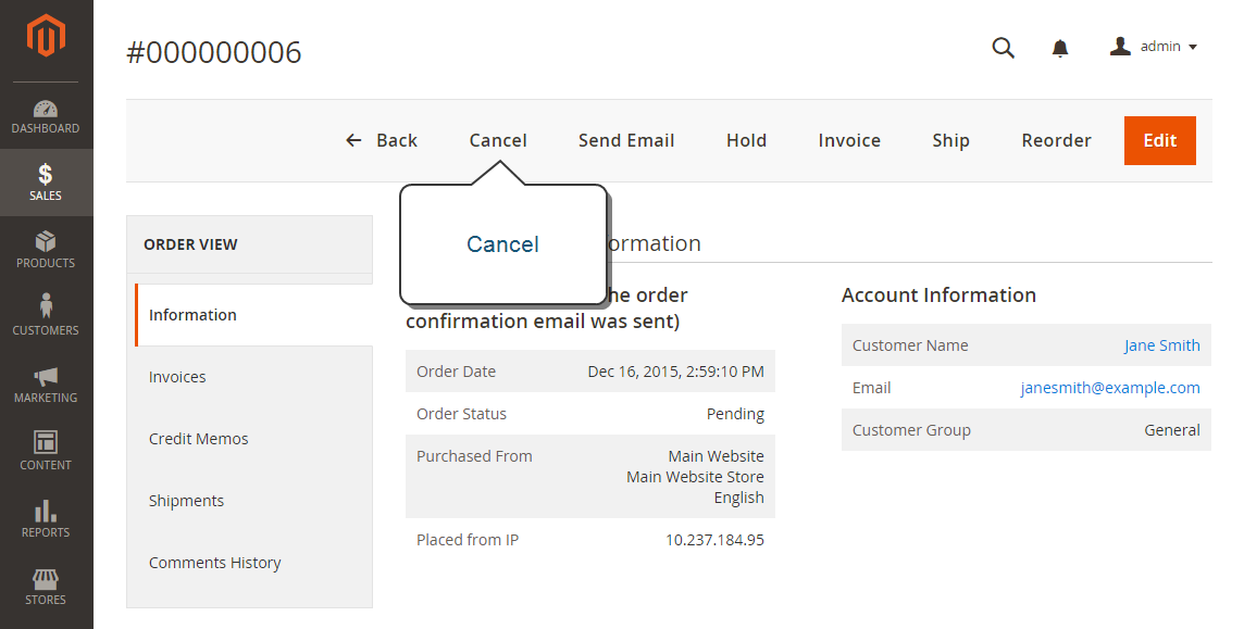 تحديث طلب شراء (Updating an Order) فى متجر ماجنتو 2