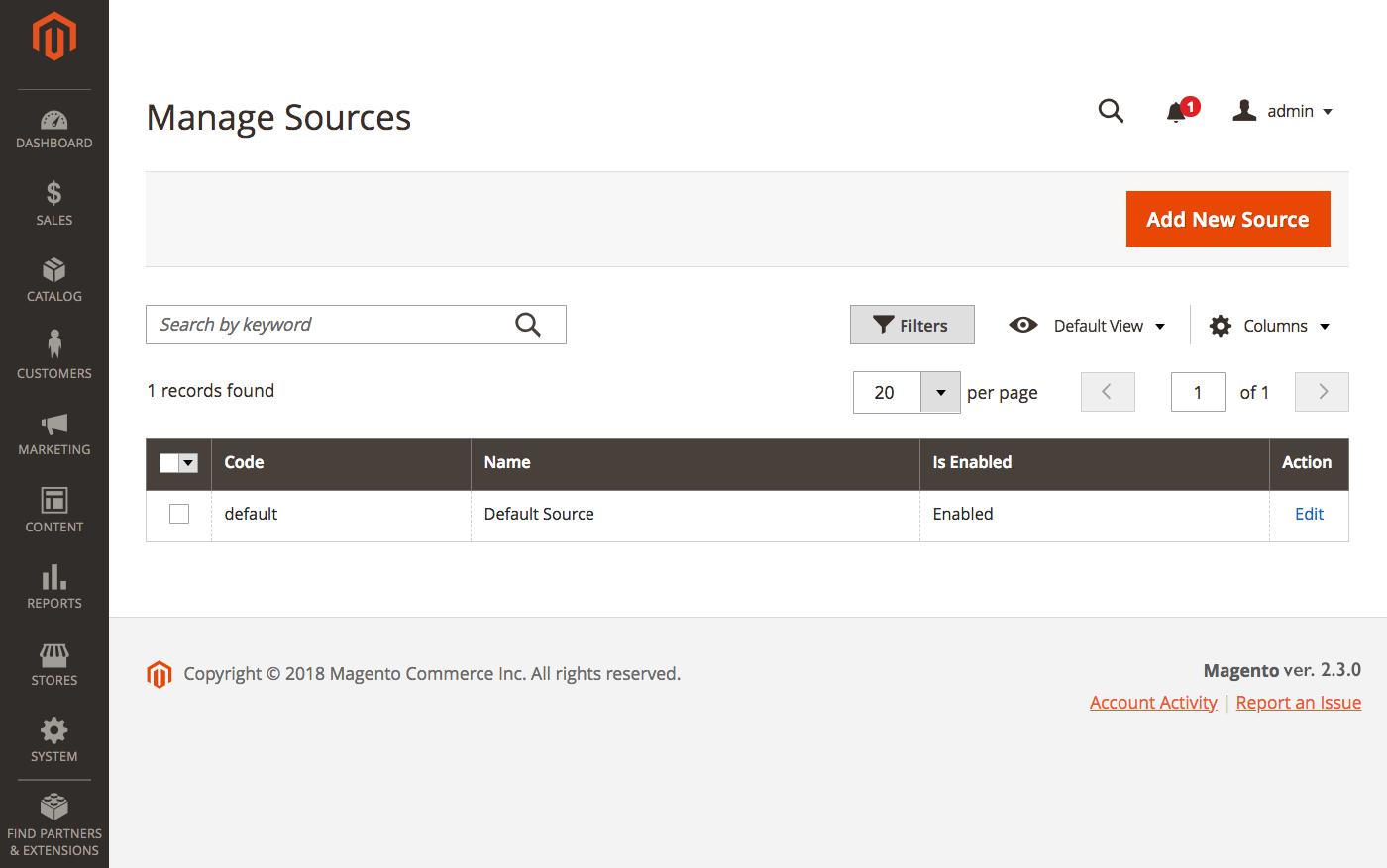 إضافة مصدر جديد لمتجرك (New Source) على ماجنتو 2