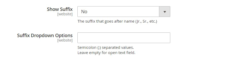 تهيئة خيارات / إعدادات اسم وعنوان العميل (Name and Address Options) فى ماجنتو 2