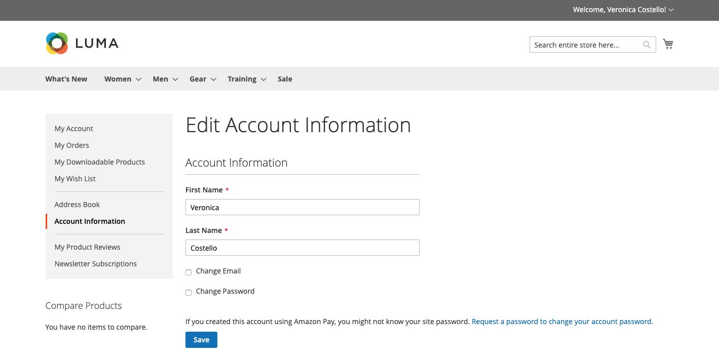 معلومات حساب العميل (Account Information) فى ماجنتو 2