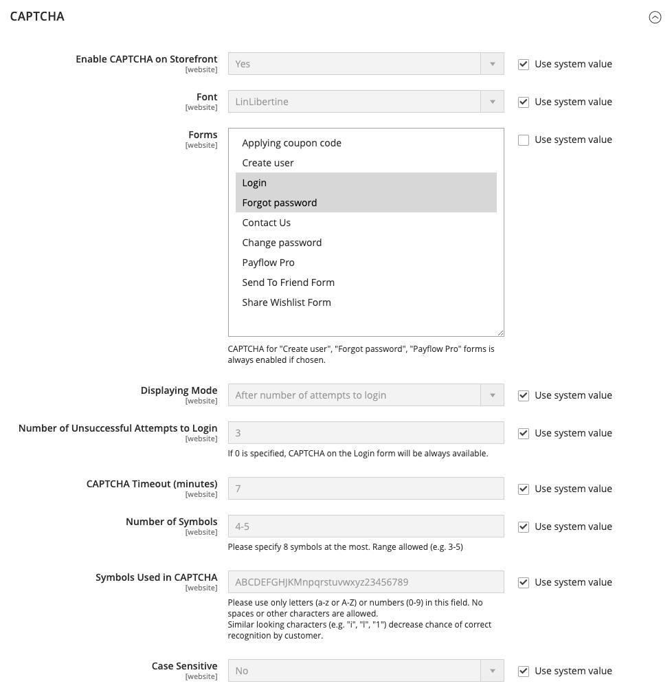 تعيين اختبار CAPTCHA للعميل فى متجر ماجنتو 2