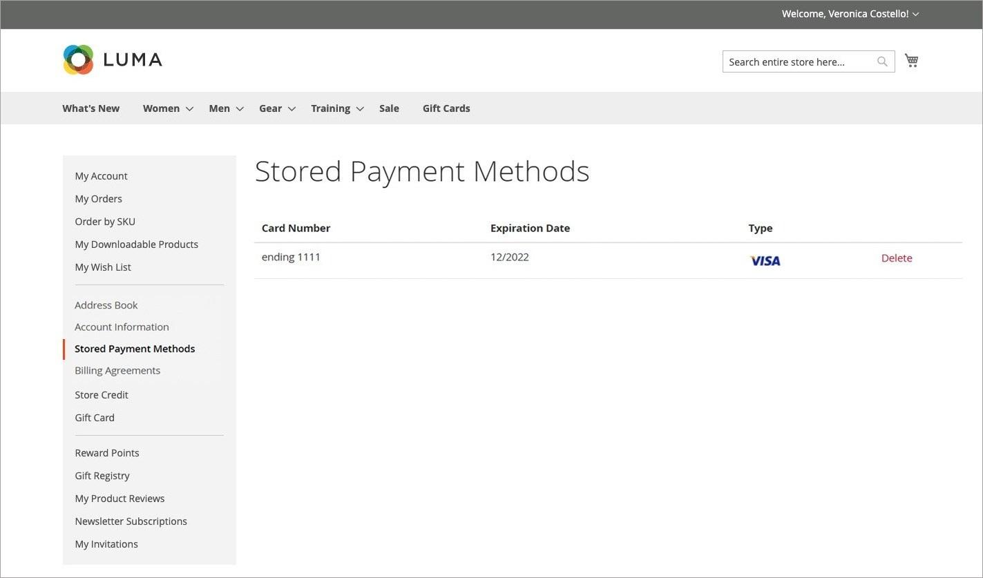 طرق الدفع المخزنة للعميل (Stored Payment Methods) فى ماجنتو 2