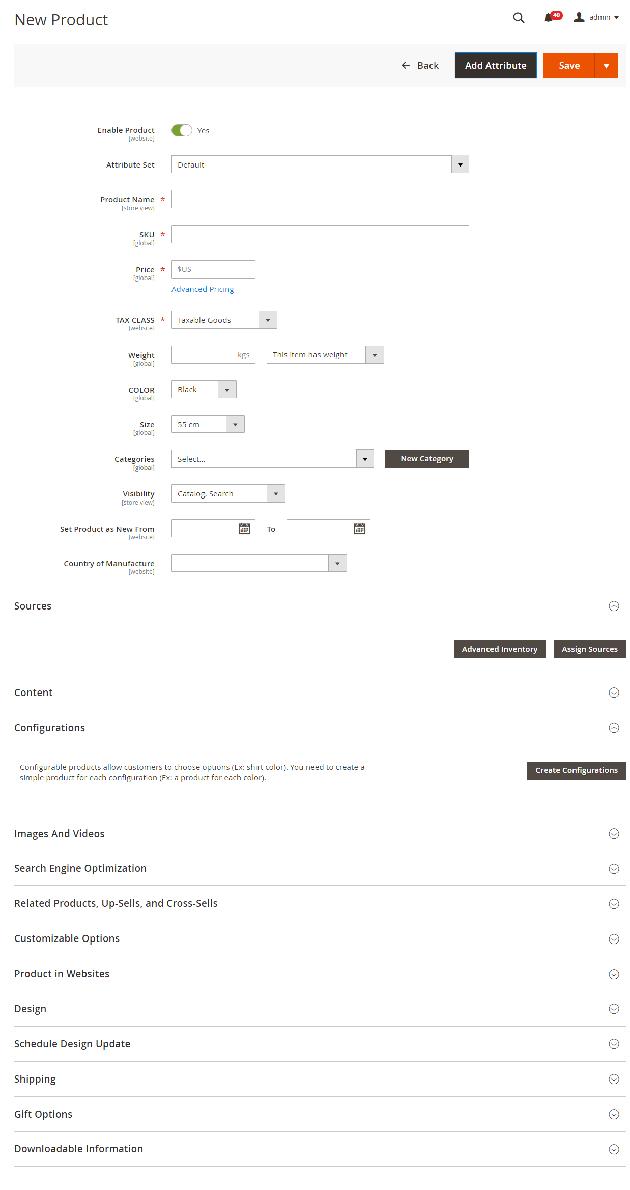 صفحة عمل المنتج (Product Workspace) فى ماجنتو 2