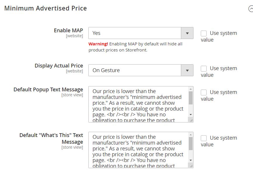 تعيين MAP لجميع المنتجات فى متجر ماجنتو 2 .
