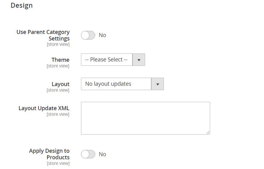 إعدادات تصميم الفئة (Category Design Settings) فى ماجنتو 2