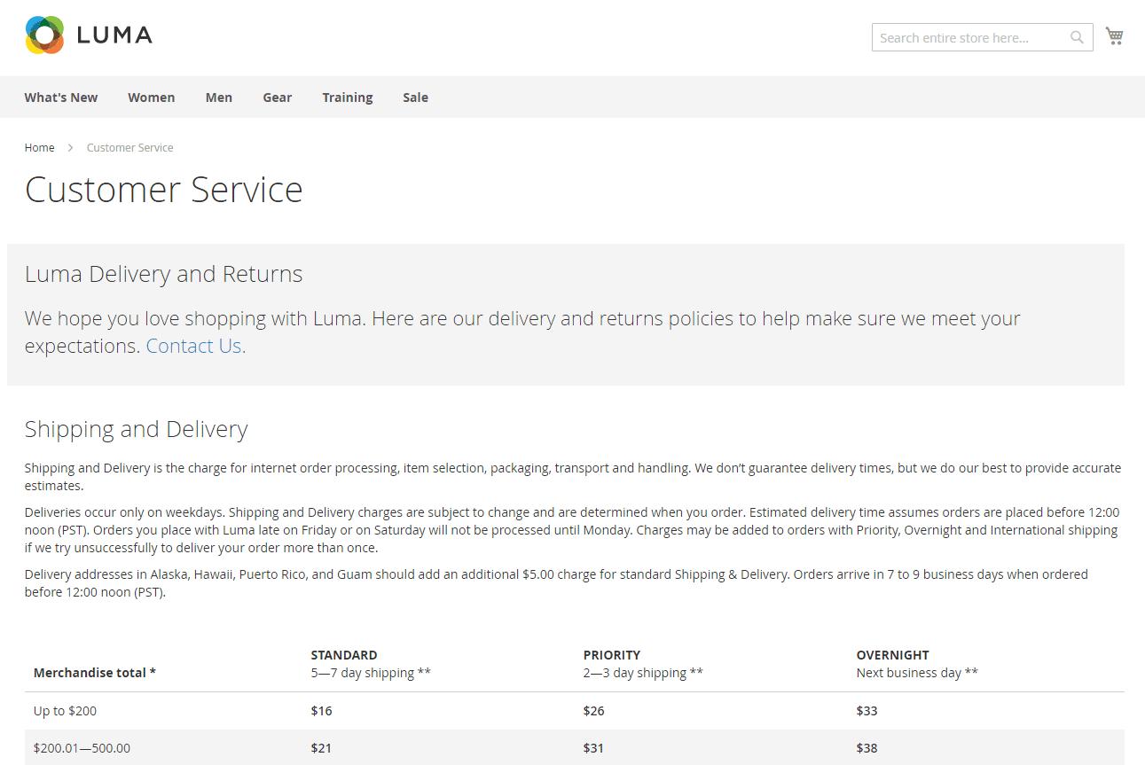 صفحات المحتوى الأساسية (Core Content) فى ماجنتو 2