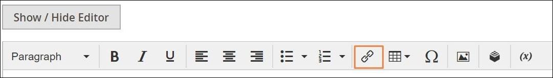 إدراج لينك فى المحتوى (Inserting a Link) على ماجنتو 2