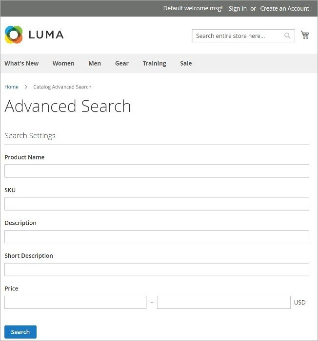 البحث المتقدم (Advanced Search) على متجر ماجنتو 2