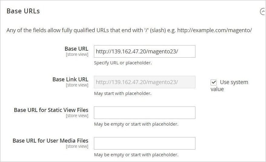 إعدادات الويب (Web) فى ماجنتو 2