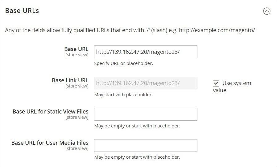 إعداد عناوين URL للمتجر (Store URLs) فى ماجنتو 2