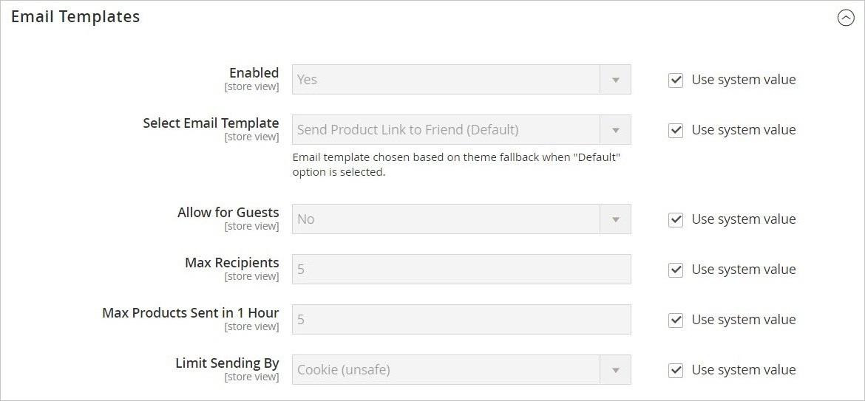 إعدادات مراسلة صديق (Email to a Friend) فى ماجنتو 2