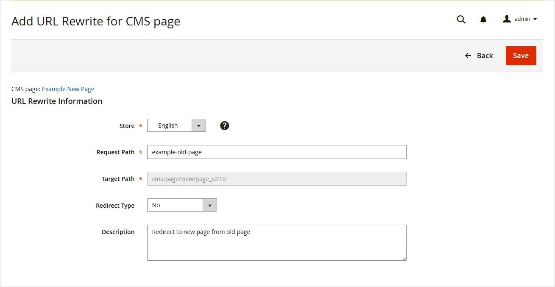 إعادة كتابة عنوان صفحة CMS Page Rewrite) CMS) على ماجنتو 2