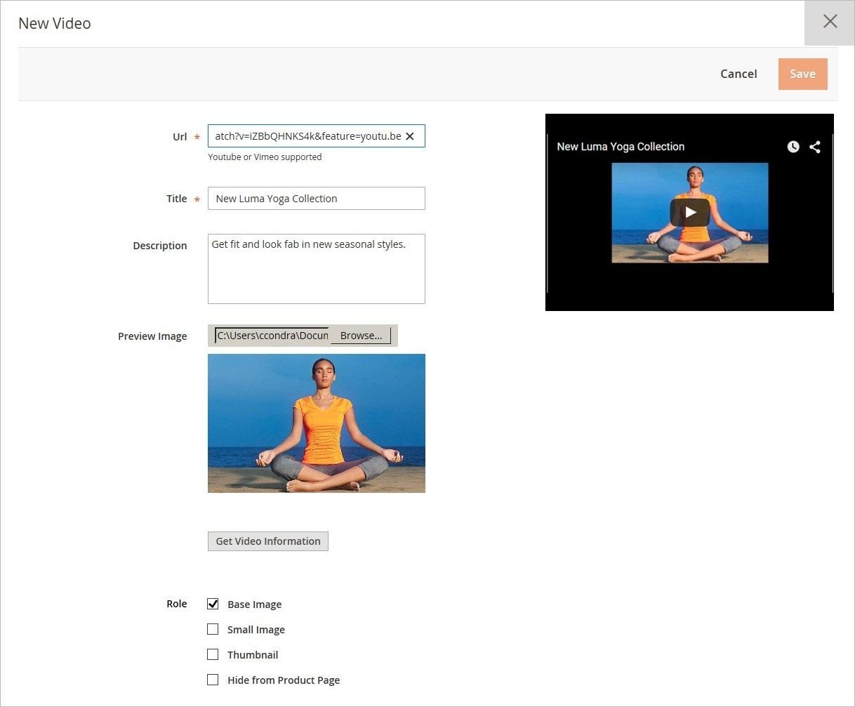 إضافة فيديو لمنتج (Adding Product Video) على ماجنتو 2
