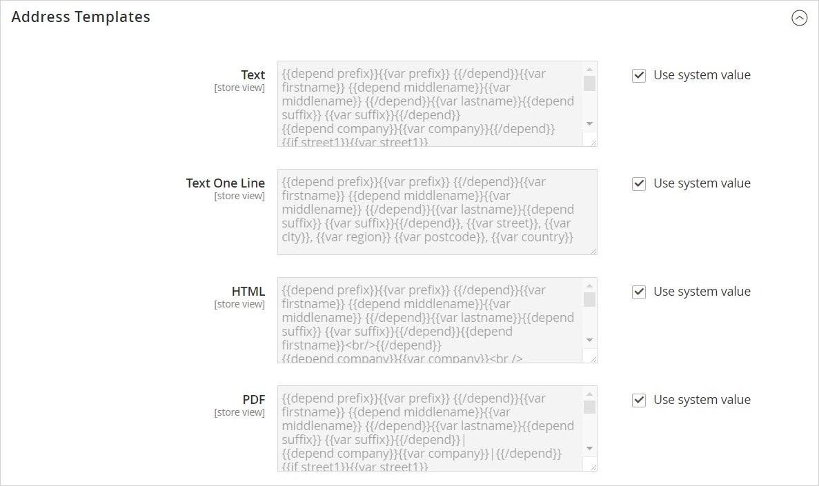 إعداد قالب عنوان العميل (Customer Address Template) على ماجنتو 2