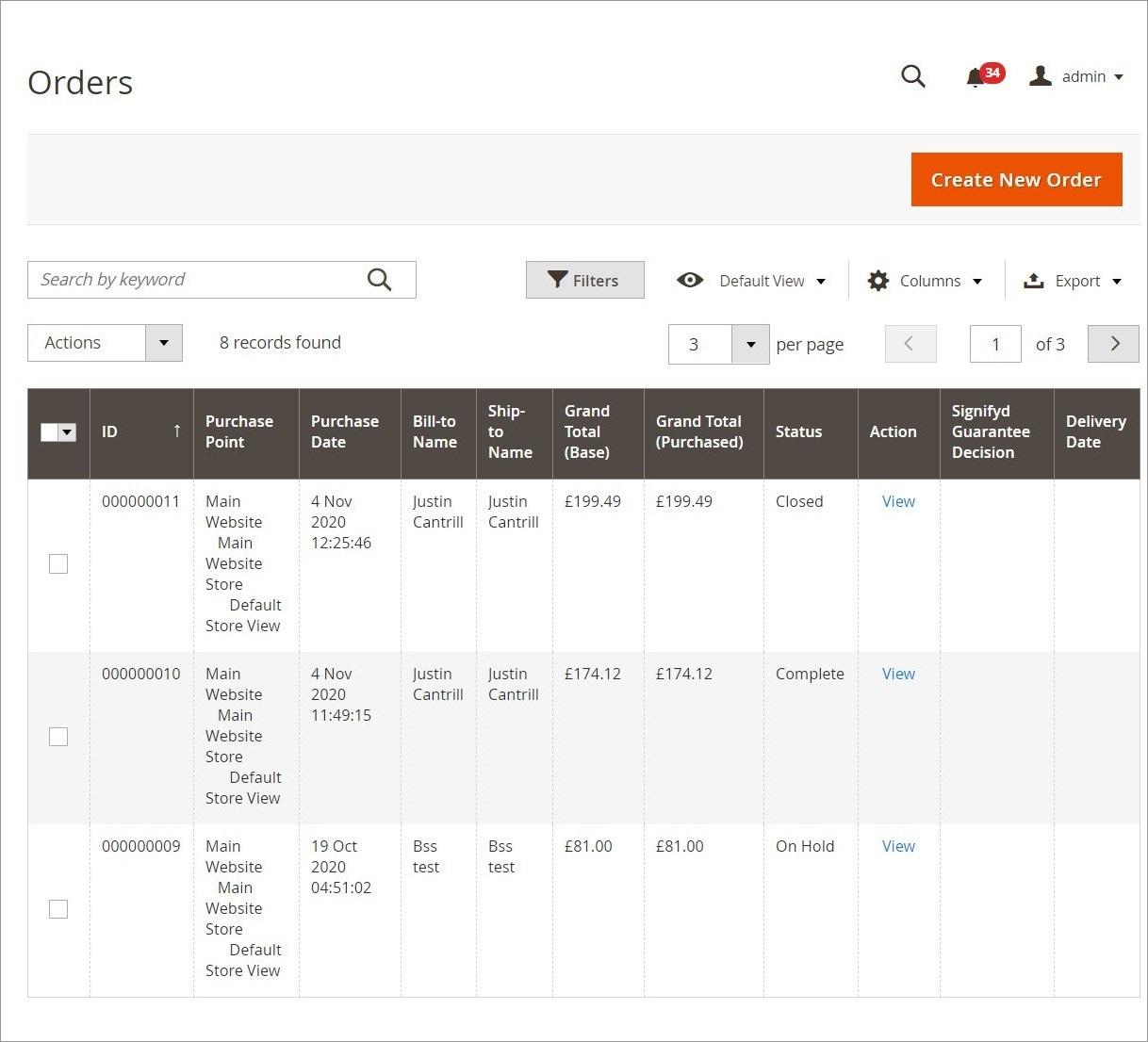 طلبات الشراء (Orders) فى ماجنتو 2