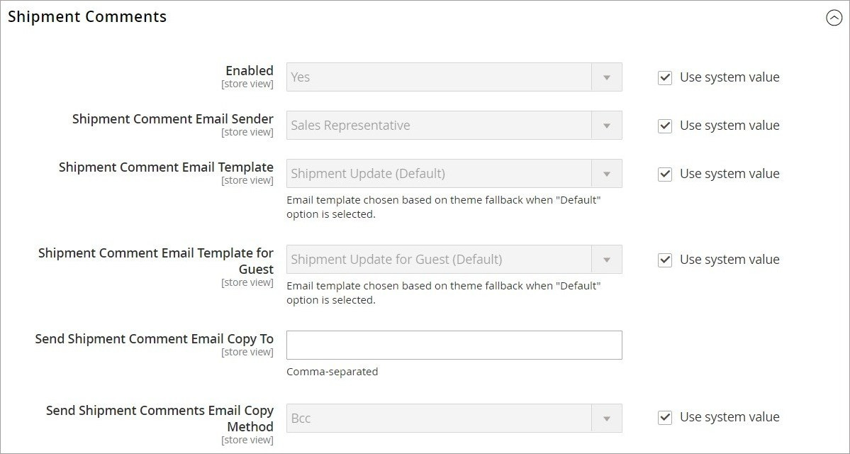 إعدادات تكوين ايميلات المبيعات (Sales Emails) فى ماجنتو 2