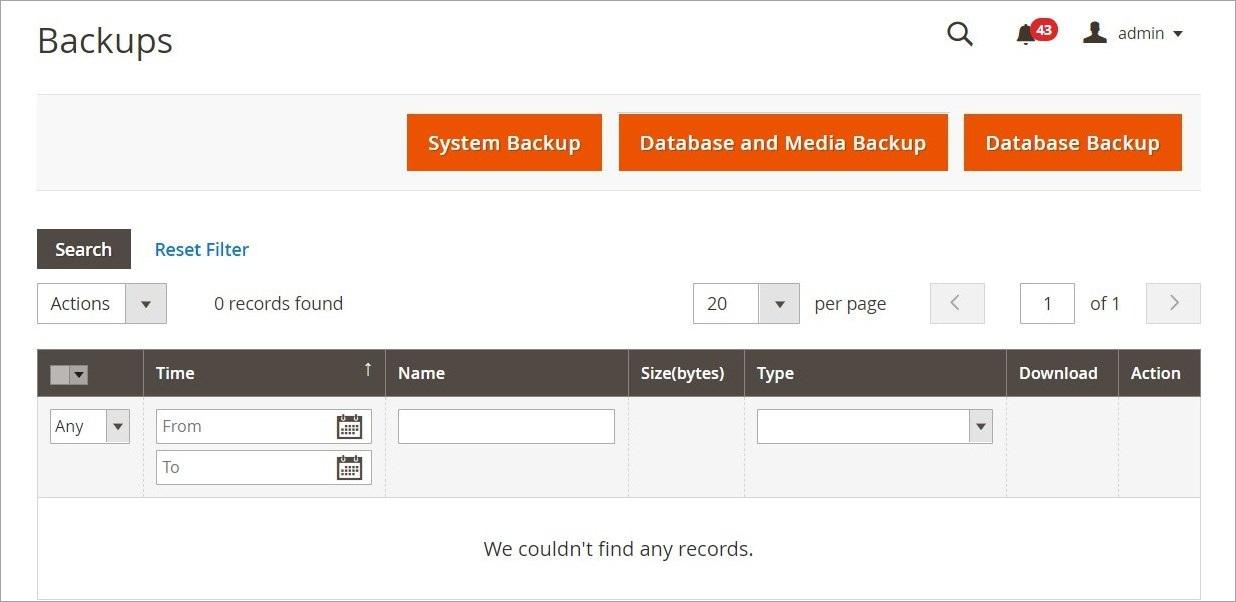 إنشاء نسخة احتياطية (Backups) من متجر ماجنتو 2