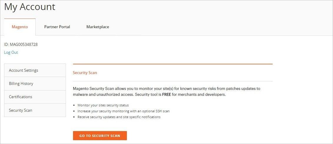 إعداد فحص الأمان (Security Scan) في ماجنتو 2