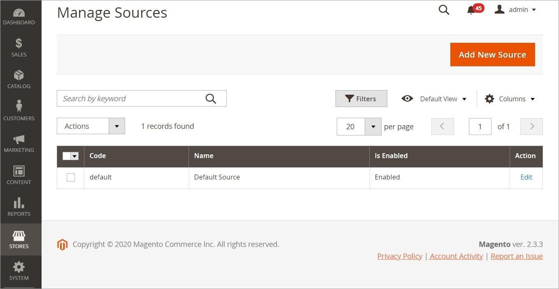 إدارة مصادر المخزون (Managing Sources) فى ماجنتو 2