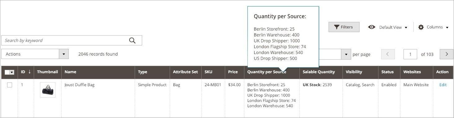 تعيين كميات المخزون لكل منتج (Assigning Quantities per Product) فى ماجنتو 2