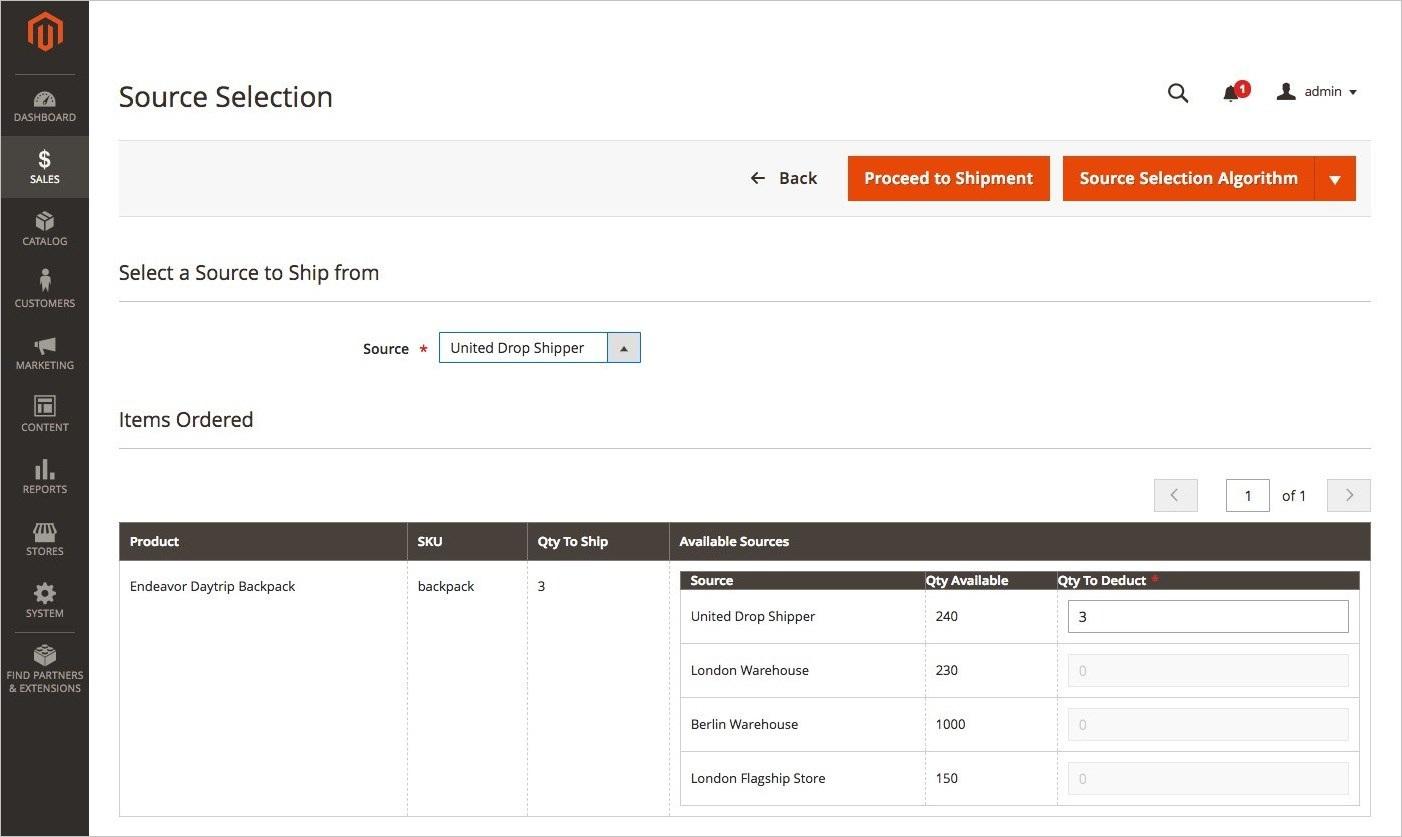 إنشاء شحنات مع إدارة المخزون (Creating Shipments with Inventory Management) فى ماجنتو 2