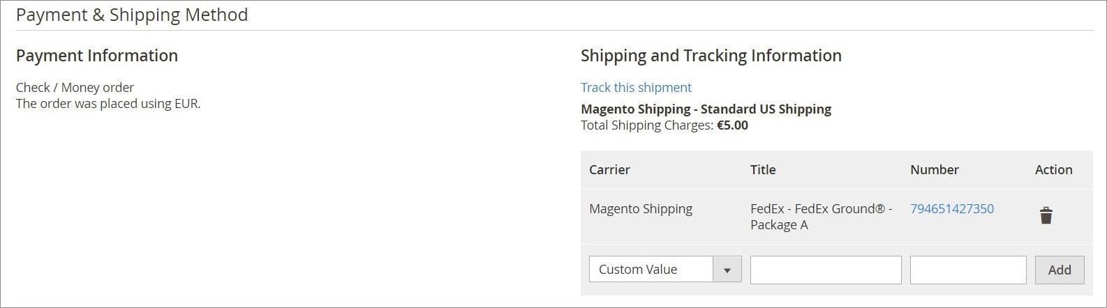 إنشاء شحنة (Creating a Shipment) فى متجر ماجنتو 2