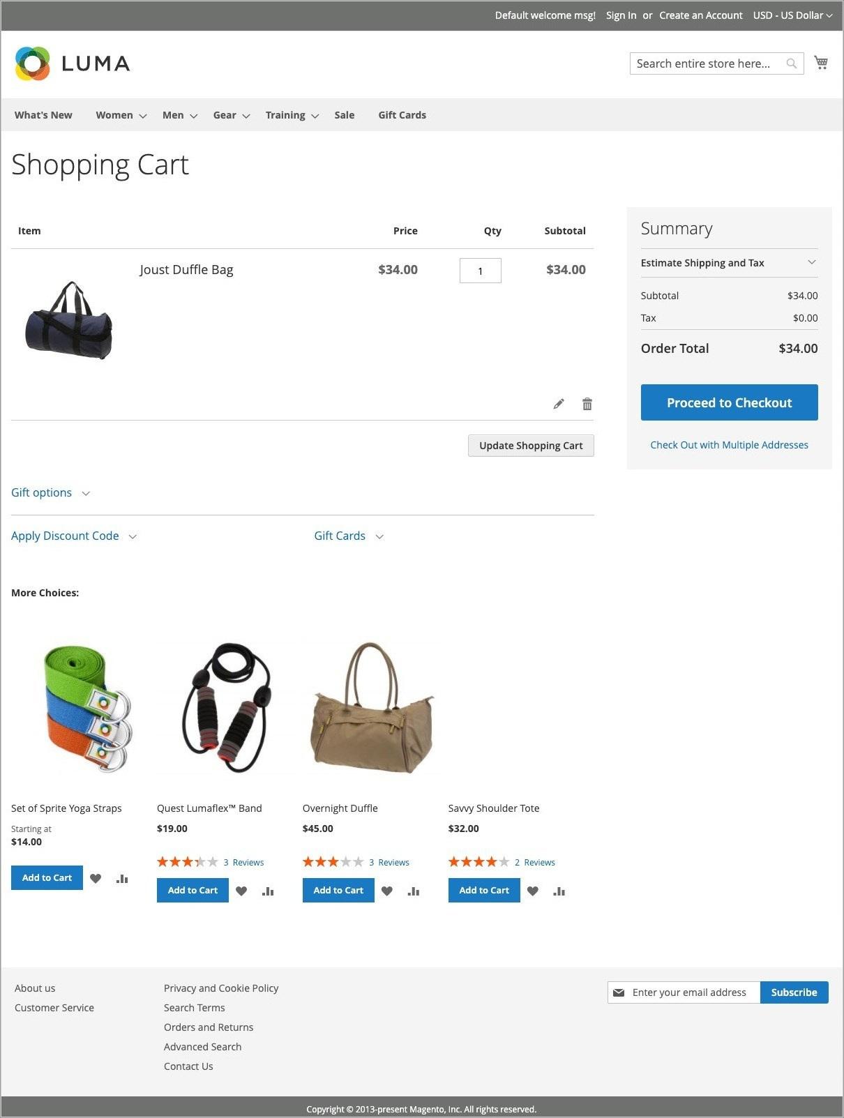 صفحة سلة التسوق (Shopping Cart Page) فى متجر ماجنتو 2