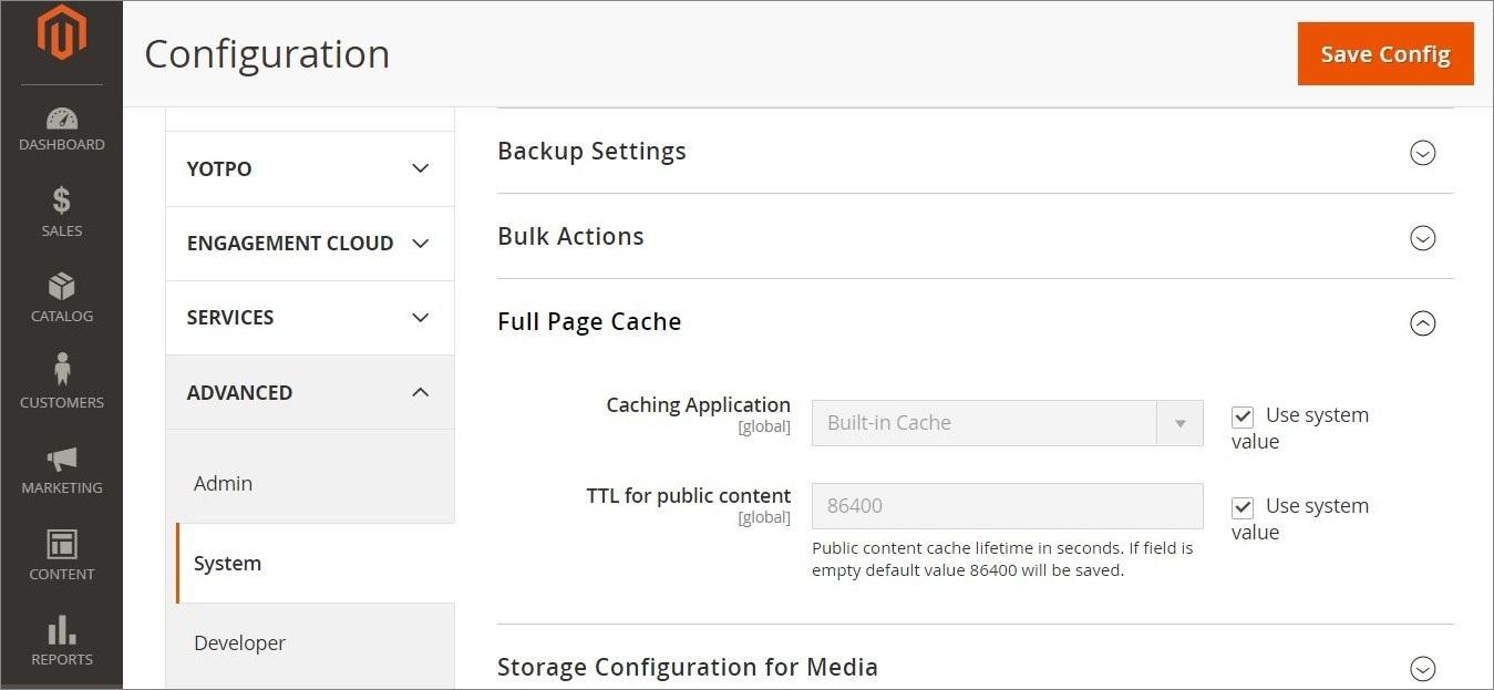 تهيئة التخزين المؤقت للصفحة بالكامل (Full-Page Cache) فى ماجنتو 2