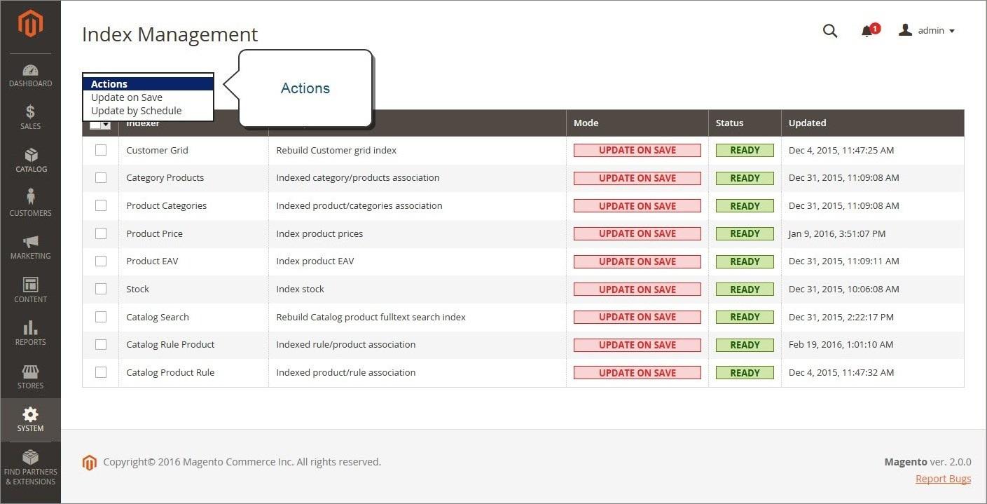 إدارة فهرسة الصفحات (Index Management) فى نظام ماجنتو 2