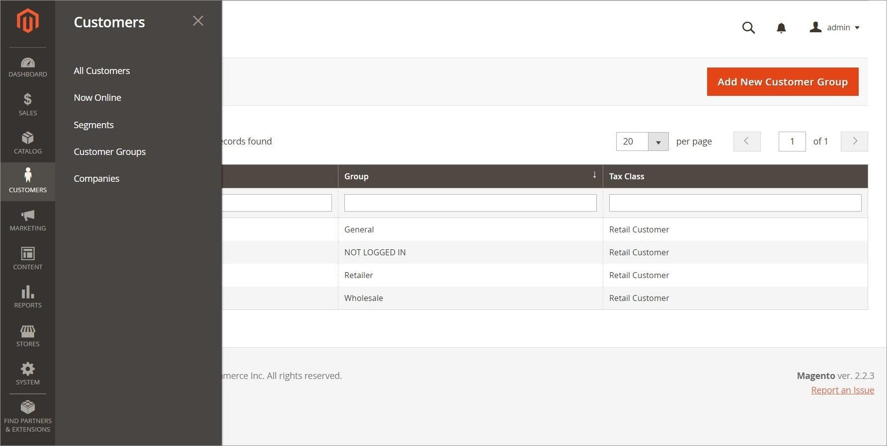 قائمة العملاء (Customers Menu) فى ماجنتو 2